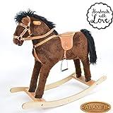 Sehr Hochwertiges Kleines Schaukelpferd/Schaukeltier Rocking Horse Handarbeit Pluto B OVP