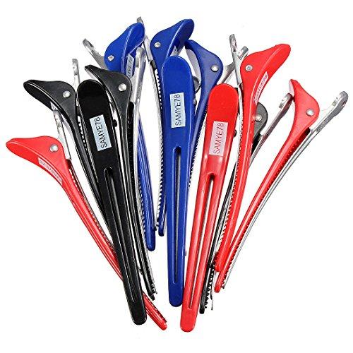 12 en aluminium section Salon cheveux Pinces