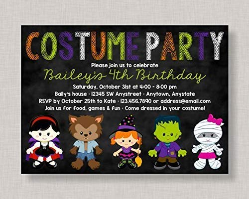 child Halloween Geburtstag Einladung Halloween Geburtstag Party Einladung Kostüm Geburtstag Party Einladung Kinder Halloween Party Einladung Dress Up Home Decor ()