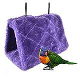 Bello Luna Nido d'uccello Viola Pappagallo Nido Animale Domestico Inverno Caldo Amaca Appendere Grotta Gabbia Peluche Felice capanna Tenda (S)