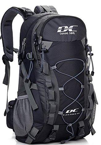 Im Freien Wandern Klettern Rucksack herren Freizeit Ultraleichte Wasserdichte Outdoor Wanderrucksäcke damen Radfahren Reiten Reisetaschen 40 Liter-Diamond Candy