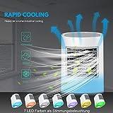 9FMZZzi81E Nuovo Condizionatore Portatile,Air Cooler 3-in-1 Mini Raffrescatore Evaporativo Umidificatore Purificatore D'aria USB Climatizzatore con Raffreddamento ad Acqua per Casa/Ufficio