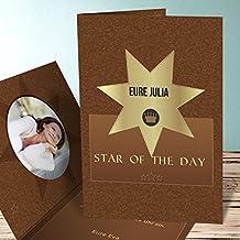 Einladungskarten Geburtstag 50 Selbst Gestalten, Stern Foto 60 Karten,  Vertikale Klappkarte 105x148 Inkl.