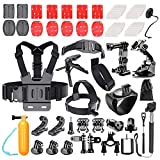 Followsun 62-In-1 Sports Action Camera Accessories Kit for GoPro Hero Session/5 Hero 1 2 3 3+ 4 5 SJ4000 SJ7000 DBPOWER AKASO VicTsing APEMAN WiMiUS Rollei QUMOX Lightdow Campark And Sony Sports DV