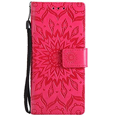 For Samsung Galaxy S9 Wallet Case ,SibyTech® Premium Mandala Design PU Leather + TPU Shockproof, Card Slots [Magnetic Closure] + Stand Function Folio Flip Book Case Cover for S9 (2018)