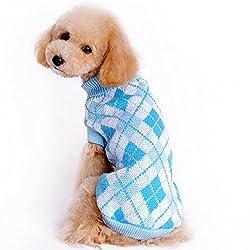 Fanxing Pet Costumes Dog Costume Small Medium Dog Pet Sweater Knitting Jacket Sleeveless Clothes