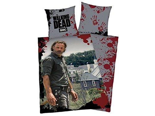 Unbekannt The Walking Dead BETTWÄSCHE Rick Grimes Alexandria 100% BW 135x200CM Wow FANSELLER