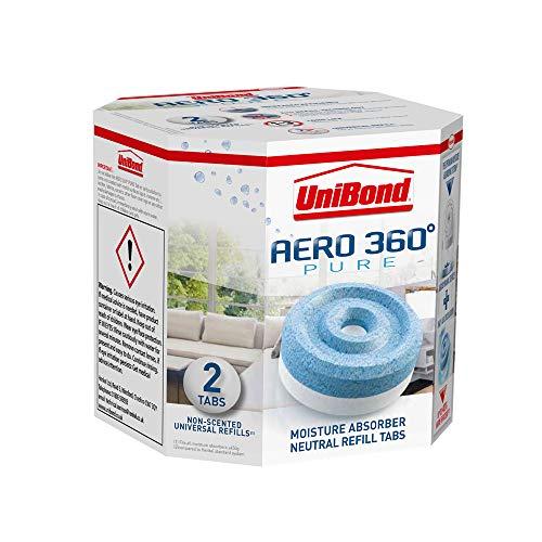 Unibond 1554715 2 recargas de Humedad Trampa Aero 360, Set de 2 Piezas