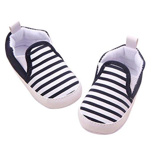 pour 0-18 mois Bébé, AmlaiworldChaussures de frange (11/0-6 mois, Noir) Noir
