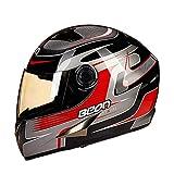 LL Motorrad Full Face Offroad Helm Anti-Nebelfahren Outdoor für Erwachsene Männer und Frauen,3,XL