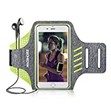 Zeonetak Sports Armband Wasserdicht Atmungsaktiv Verstellbar Klett Kopfhörer Halter iPhone8plus