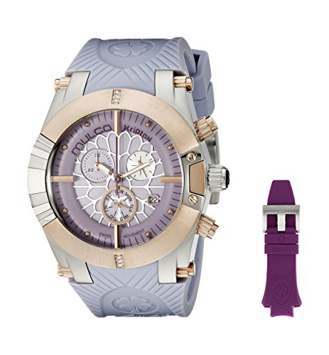 MULCO Women's MW5-3069-513 Kripton Snap Analog Display Swiss Quartz Purple Watch
