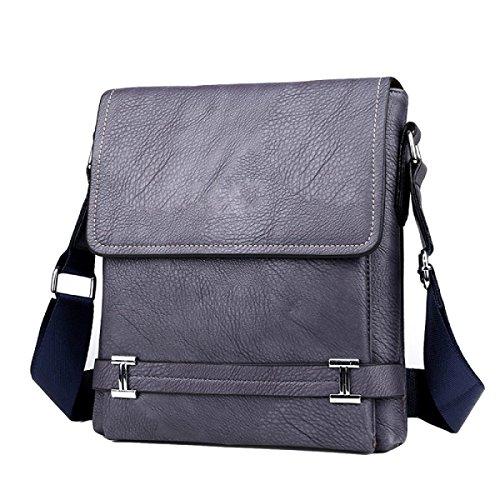 Männer Beutel Schulter Beiläufige Beutel Kurierbeutel Vertikale Abschnitt Geschäftspaket Aktenkoffer Handtasche Grey