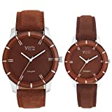 YOUTH CLUB Analogue Brown Dial Boy's & Girl's Couple Watch -Prcof