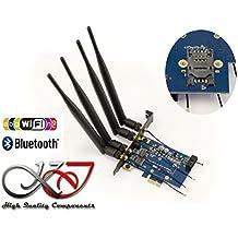 Kalea Informatique–Controlador PCIe para tarjeta Minicard (MiniPCIe MPCIe o USB) WiFi y/o Bluetooth–con lector tarjeta SIM–doble interfaz USB y PCIe
