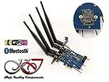 Kalea Informatique Controller PCIe für Karte MINICARD (MiniPCIe mPCIe oder USB) WiFi und/oder Bluetooth–mit SIM Karte Kartenleser–Doppel USB-Schnittstelle und PCIe