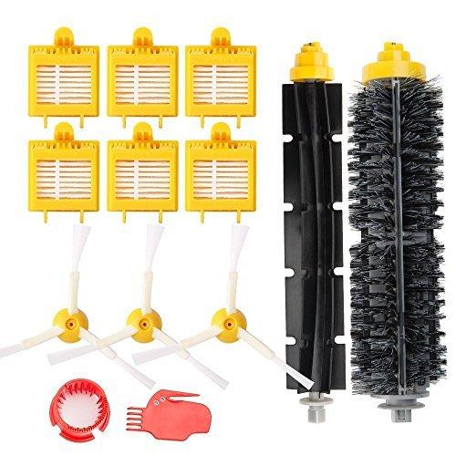 MTKD Kit de 13 secours pour iRobot Roomba série 700 (700, 760, 770, 780 790) - Kit accessoires de 13 pièces (Brosses Latérale, filtres, brosse de Cerda et etc..) pour aspirateur robot.