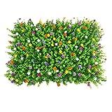 Siepe Artificiale per Balcone Recinzione in Rotolo 12 Pezzi Artificiale bosso Pannelli Topiary Hedge impianto for Outdoor Indoor Recinzione Patio Pannelli Artificiale bosso