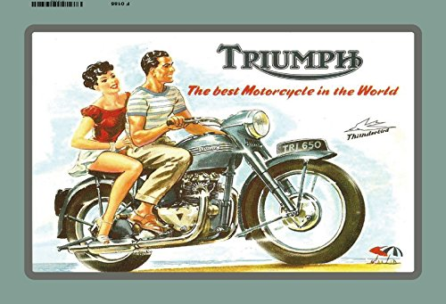 triumph the best motorcycle in the world motorad reklame blechschild