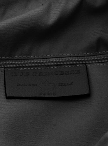 Rue Princesse Made in Italy Crete XXL Shopper DIN-A4 Leder Damen Beuteltasche Handtasche Henkeltasche 40x35x9 cm (BxHxT) Schwarz