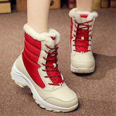 Wuyulunbi@ Scarpe Donna Tessuto Comfort Winter Snow Boots Fashion Stivali Stivali Lace-Up Per Outdoor Casual Blue Rosso Bianco Nero US8 / EU39 / UK6 / CN39