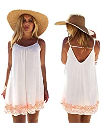 Abito,Vestiti,Gonne,Yanhoo® Donna Backless Breve Estate BOHO Evening Party Beach Mini abito estivo