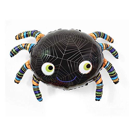 Aolvo Halloween Folie Ballons, Neuheit Aufblasbare Ballon Scary Cute Kürbis Cat/Specter/Spider/Kürbis/Fledermaus Halloween Mylar Luftballons für Halloween Dekorationen Party Supplies Spider