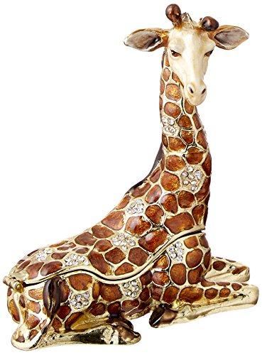 10,2cm Resting Giraffe Erinnerungsschachtel mit Swarovski-Kristallen Jewelry Box, Schmuckkästchen & Figur -