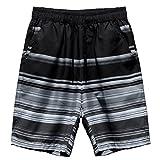 Echinodon Jungen/Herren Badeshorts Urlaub Strand Shorts mit Print Schnelltrockend Beachshorts Badehose Kurz