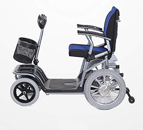 CSCR Scooter Portátil De Movilidad, para Los Ancianos Y Discapacitados Plegables Scooter De Arranque para Coche Batería De Litio De 20 Amperios -Seguro 30 Km (Azul),B