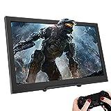 ASHATA Monitor da Gioco, Schermo Portatile da 15,6 Pollici 1920x1080 Monitor HDMI Doppia Interfaccia HDMI,Display LCD da 15,6 Pollici Monitor IPS per Serie Raspberry Pi, PS3, PS4, X-Box 360(HDR)