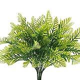 Nahuaa Künstliche Pflanzen 4 Stücke Plastikpflanzen Gefälschte Sträucher grün für Blumenarrangement Balkon Hochzeit Wohnung Büro Tisch