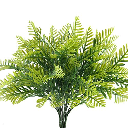 Nahuaa Künstliche Pflanzen 4 Stücke Plastikpflanzen Gefälschte Sträucher grün für...