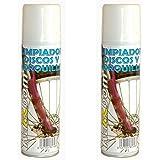 2x Limpiador Spray de Frenos de Disco Retenes Horquillas Suspension Bicicleta 3768