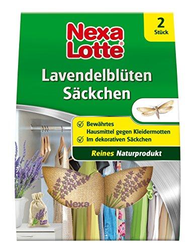 Nexa Lotte rempli de Fleurs de Lavande - Sachet, Produit Naturel sans additifs, en Fibre Naturelle décorative Sachet de Protection Contre Mites dans kleisers chränken, tiroirs et coffres, 2 Sachet