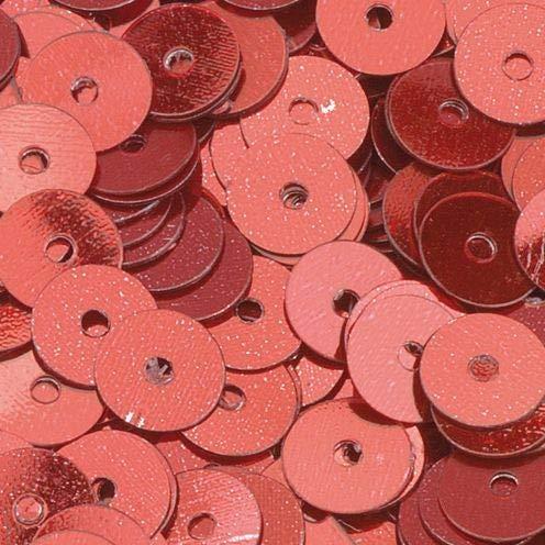 efco 4000 Runde, 6mm Runde, Flache Pailletten, Rot, 40g