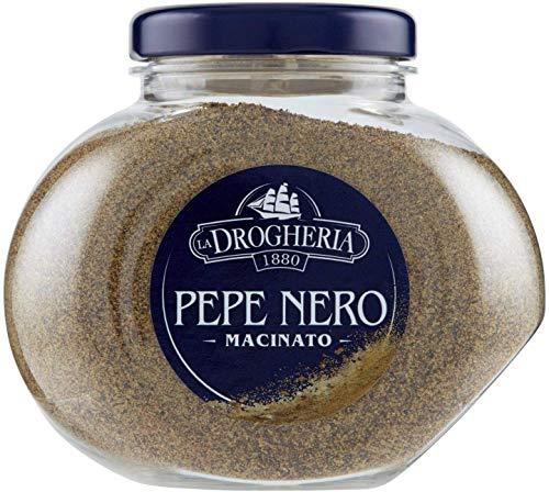 Pepe Nero macinato - 110 g - Sapore Deciso e Piccante - Aromatizza Carne e Pesce, Pastasciutta, Zuppe e Risotti - Discrete Capacità Analgesiche, Antisettiche e Depurative