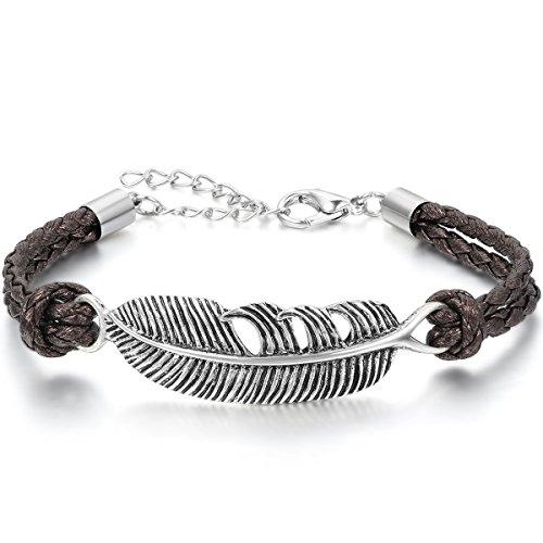 jewelrywe-gioielli-bracciale-da-uomo-donna-anchor-piuma-feather-pelle-acciaio-inossidabile-marrone-a