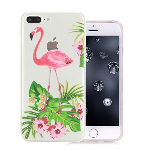 iPhone 7 Plus Coque, Aeeque Fleurs de Dentelle Blanc Dessin Transparent Crystal Silicone Doux TPU Protection Contre les Chutes Case Cover Housse Etui pour iPhone 7 Plus 5.5 pouce Motif #23