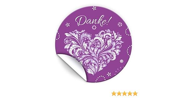 3 liebevolle Sticker f/ür Verpackung der Gastgeschenke Herz rosa Nr bei Hochzeit Geburtstag JuNa-Experten 100 Aufkleber Danke f/ür Geschenkt/üten