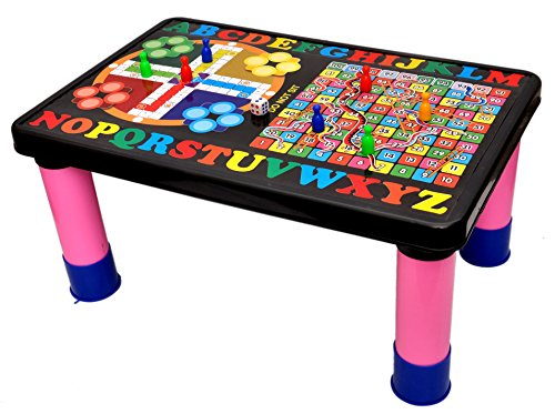 Toyshine Study Table And Play Board With Magnetic Ludo Snakes And Ladder
