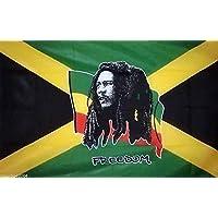 Bandera Bob Marley Freedom 140 x 90 cm. Rasta Reggae Flag Freedom