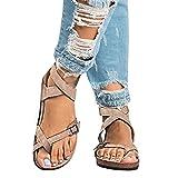Cet été chaud Vous avez besoin de nouvelles sandales!  Caractéristiques: * Composition du matériau: Cuir artificiel, Cuir suédé, Caoutchouc * Matière Semelle: Caoutchouc, léger et antidérapant, confortable à marcher * Type de Talon: Plat, 2 cm. Les c...
