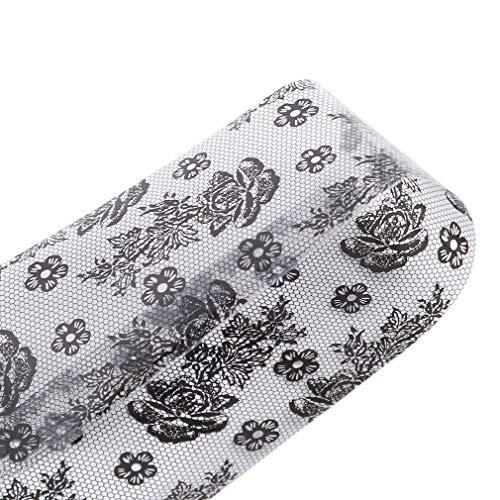 LnLyin Spitze Starry Nail Folien Maniküre Nail Art Transfer Aufkleber Nail Decals Nail Art Designs für Frauen Mädchen, Stil 1
