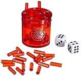 BestSaller 3011 'SUPER SIX' ABS Kunststoff, auch für die Reise, 36 Spielstäbchen & 2 Würfel, rot (1 Stück)