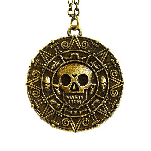beaux-bijoux-medaillon-azteque-en-bronze-du-film-pirates-des-caraibes-avec-motif-de-crane