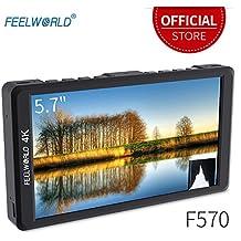 "Feelworld F570 On Camera Field Monitor 5.7"" 4K Ultra HD 1920x1080 LCD IPS Screen 16:9 With HDMI for DSLR Rig Sony Canon Nikon Olympus Pentax Panasonic"