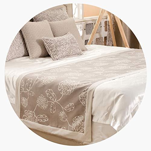 ERTO Bettläufer Schlafzimmer Bett Schal Bett Bett Flagge Villa Plain Mosaic Large Pattern Jacquard Home -