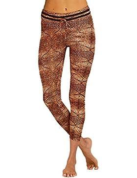 Mujeres De La Manera De Cintura Alta De Encaje Más El Tamaño Del Deporte De Yoga Pantalones Atractivos Pantalones...