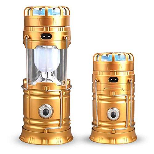 LayOPO 4 in 1 Tragbare LED Camping Laterne Helle Campinglampe, Mini-Ventilator-Taschenlampe USB-tragbare Stromquelle - superhelle Lumen tragbare Outdoor-Notleuchtenleuchten